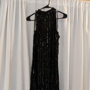 Black Sparkle Full-Length Gown